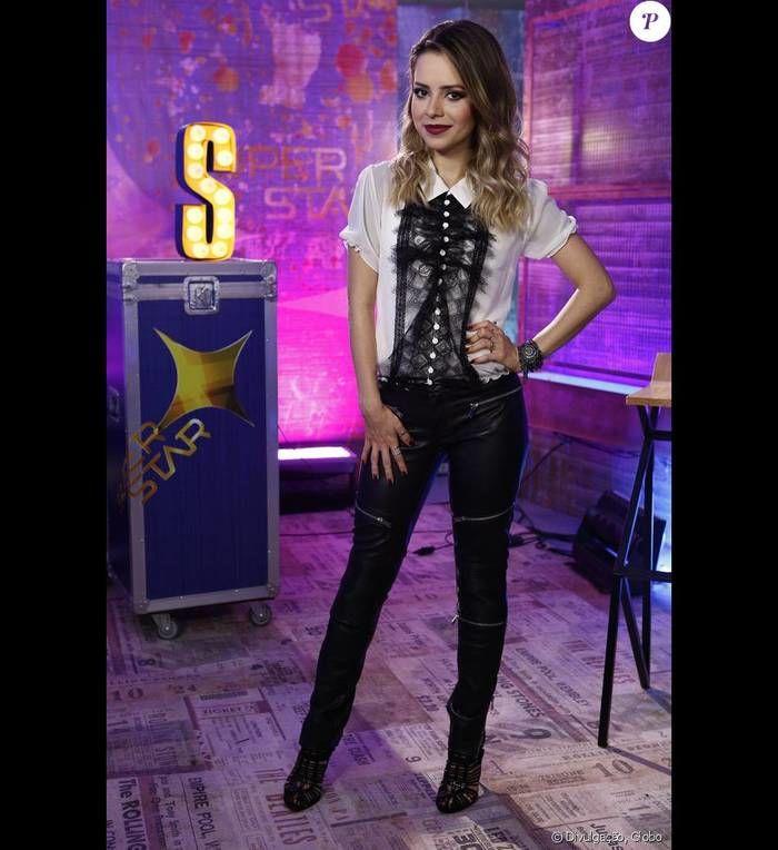 Sandy como jurada do Superstar (Crédito: Gshow)