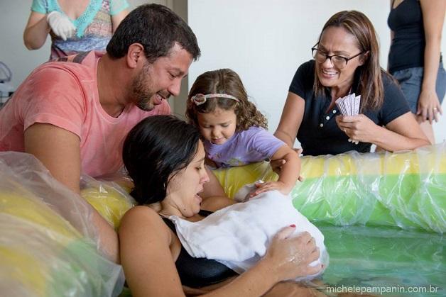 Imagens sobre parto humanizado que emocionam (Crédito: Michele Pampanin)