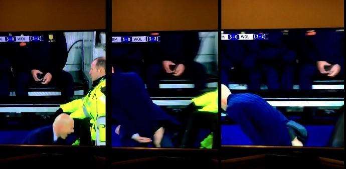 Calça de Zidane rasga em jogo (Crédito: Reprodução)