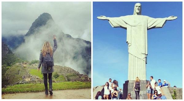 Machu Picchu, no Peru, e o Cristo Redentor, no Rio de Janeiro
