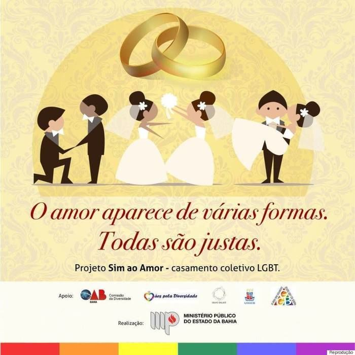 Casamento coletivo LGBT (Crédito: Reprodução)