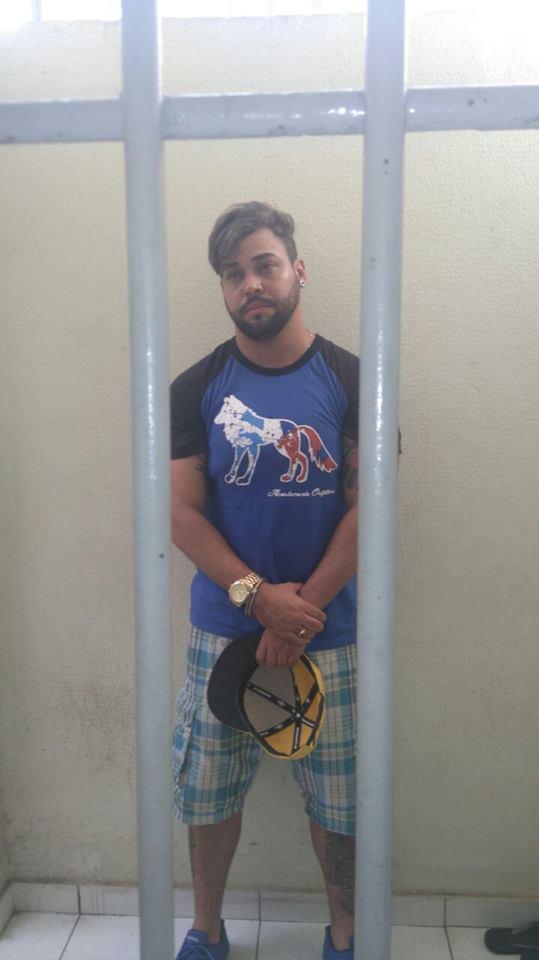 Acusado preso (Crédito: Reprodução)