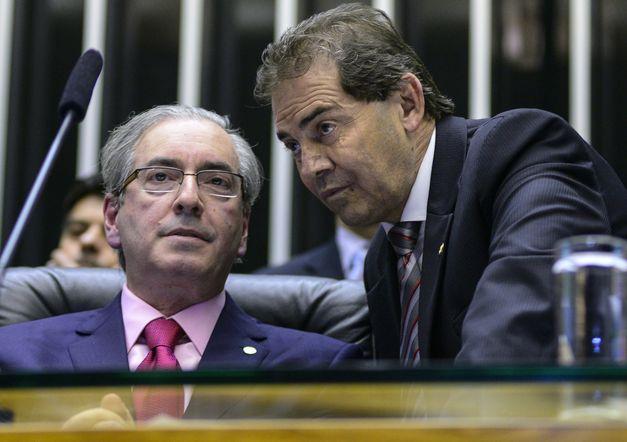 Eduardo Cunha e Paulinho da Força (Crédito: Reprodução)