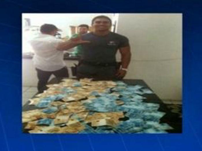 Policial é preso em Teresina após ostentar dinheiro em rede social (Crédito: TV Mirante)