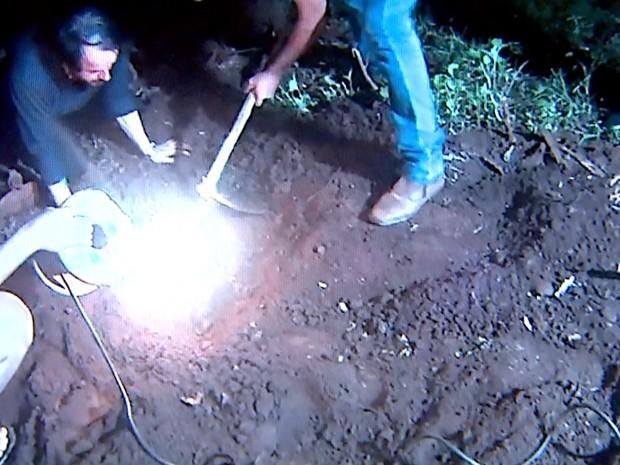 Local onde os restos foram encontrados (Crédito: Reprodução)