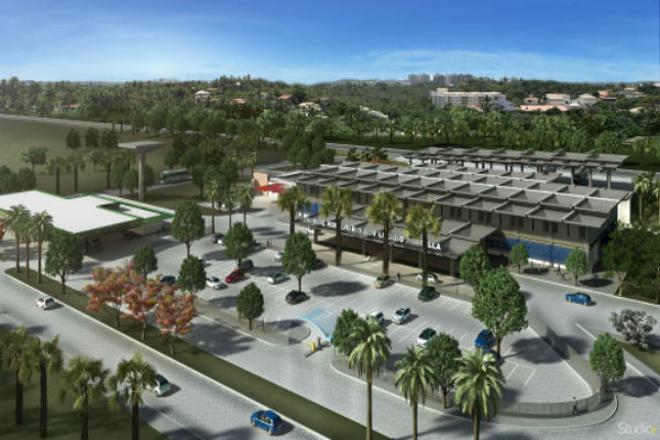 Projeto da área externa da Rodoviária (Crédito: Reprodução)