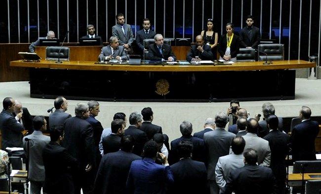Bancada da Câmara dos Deputados (Crédito: Reprodução)