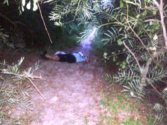 Corpo foi encontrado no local (Crédito: Reprodução)