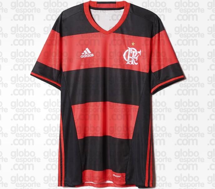 Nova camisa do Flamengo (Crédito: Globoesporte.com)