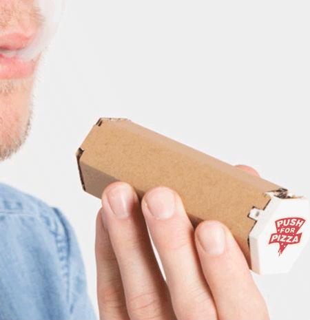 Marca transforma caixa de pizza em cachimbo para maconha