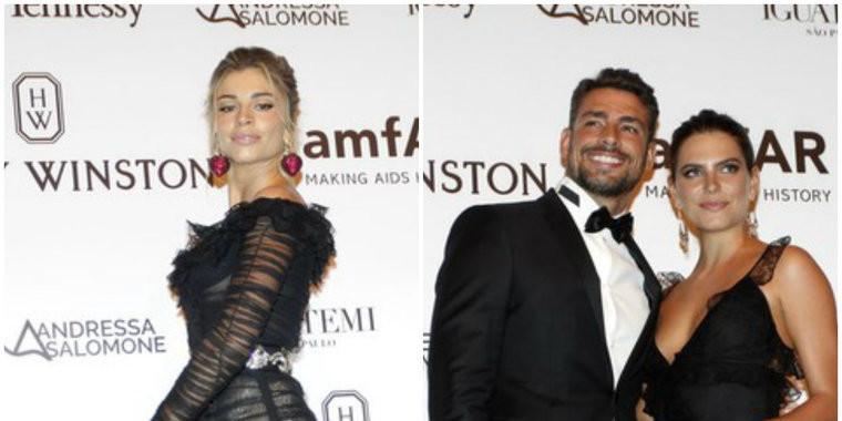 Cauã e Grazi vão ao mesmo baile e ele beija nova namorada