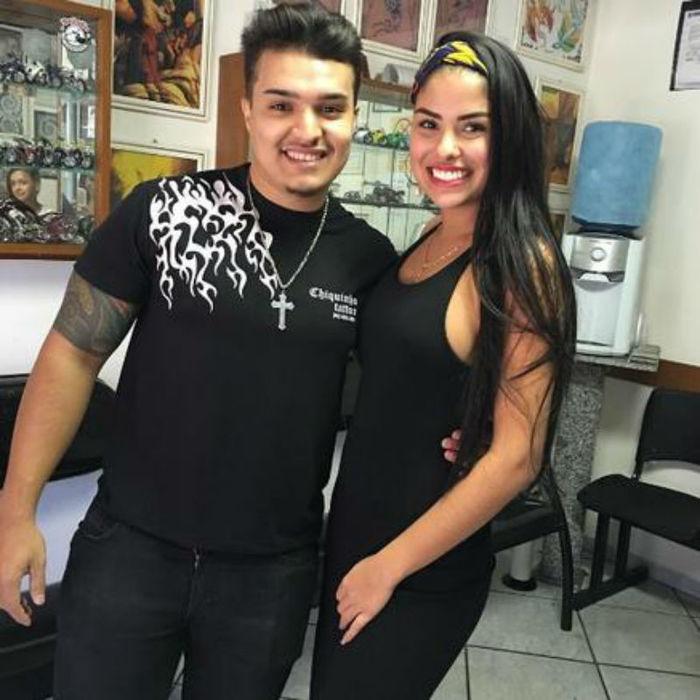 Munik e seu amigo Pablo Henrique
