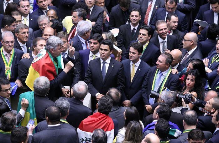 Votação na Câmara dos Deputados (Crédito: Antonio Augusto / Câmara dos Deputados)