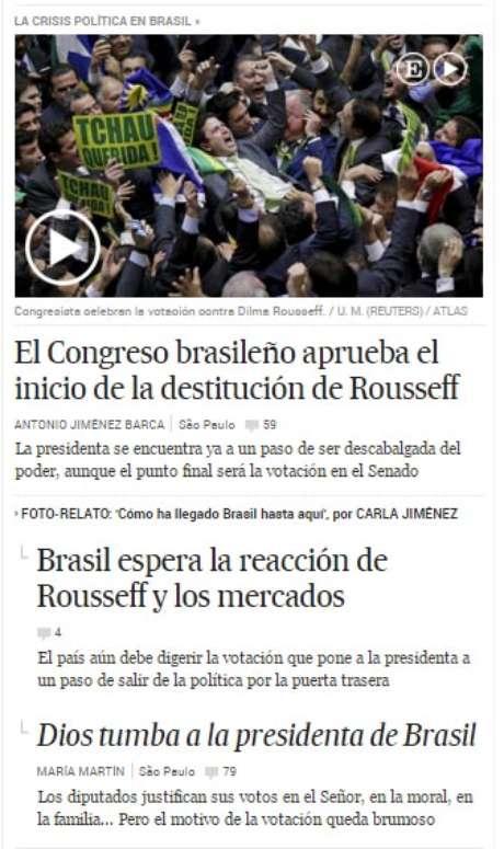 O jornal espanhol El País