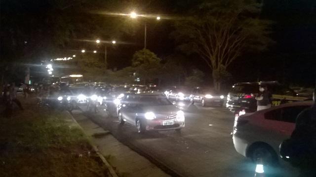 Congestionamento se formou no local (Crédito: Reprodução)
