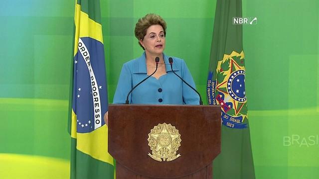 Presidente Dilma Rousseff (Crédito: Reprodução/NBR )