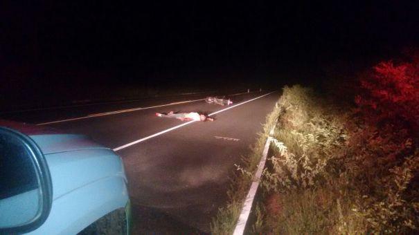 Acidente envolvendo motociclista em Oeiras (Crédito: Reprodução)