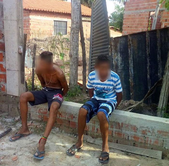 Menores apreendidos pela polícia na zona Sudeste