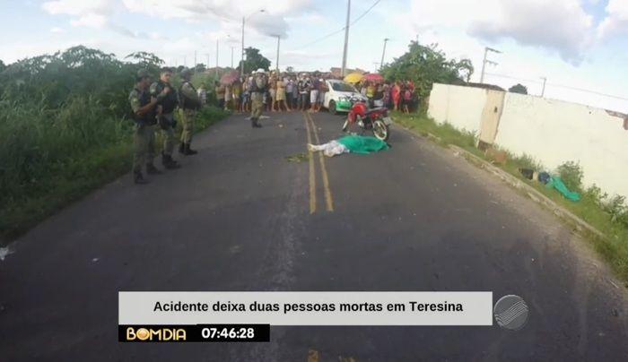 Colisão deixou dois mortos (Crédito: Reprodução/TV Meio Norte)