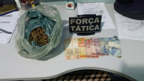 Droga apreendida com os dois acusados em Paulistana