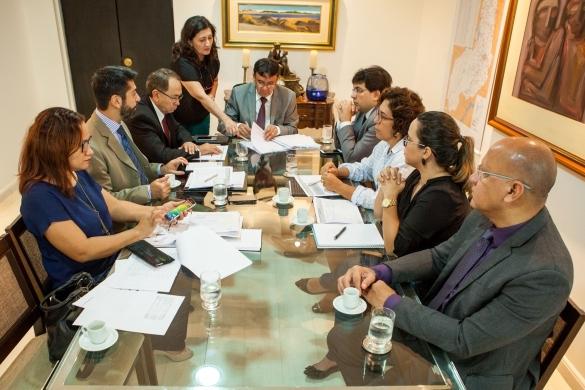 Reunião com Secretário de Planejamento, Antônio Neto e equipe  (Crédito: Jorge Henrique Bastos)