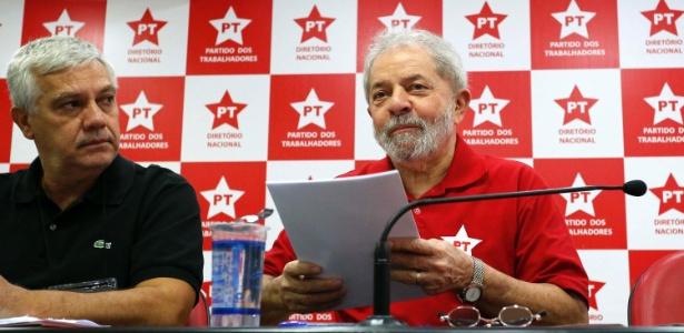 Lula durante reunião do PT em São Paulo (Crédito: Futura Press)