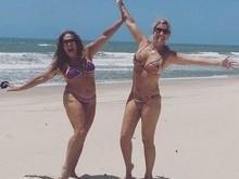 Aos 73 anos, Susana Vieira exibe corpão em praia de Fortaleza