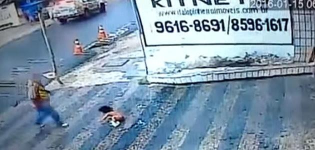 Vídeo incrível: criança de um ano cai do segundo andar e sai ilesa