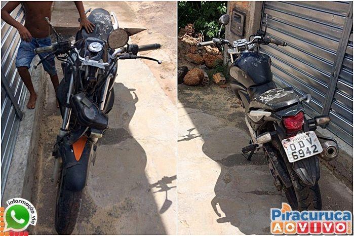 Motocicleta ficou bastante danificada (Crédito: Reprodução)