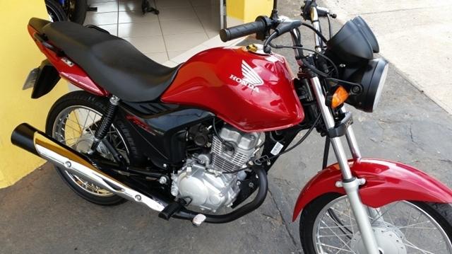 Motocicleta de professora que foi roubada (Crédito: Reprodução)