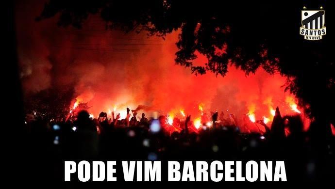 Memes sobre jogo Santos x Barcelona (Crédito: Reprodução)