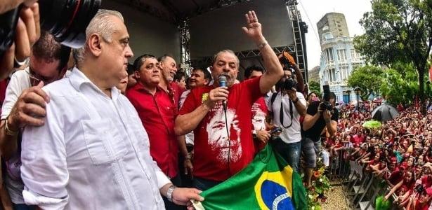 Lula em ato em Fortaleza (Crédito: Reprodução)