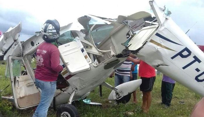 Monomotor caiu em Barreirinhas (Crédito: Reprodução)