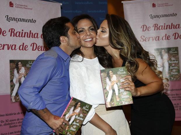 Thammy Miranda, Sula Miranda e Andressa Ferreira em evento
