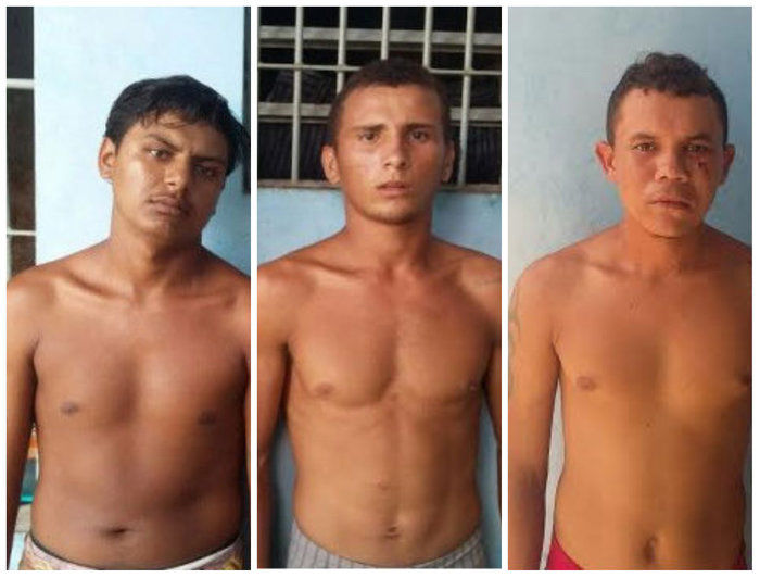 Cleiton Batista Aguiar, Mauro Nunes e Dalison Viana do Nascimento