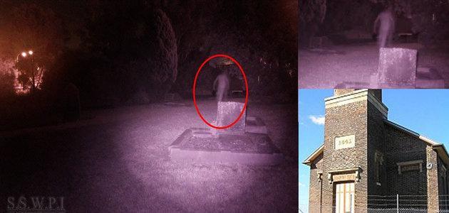 Câmera captura imagem de fantasma em cemitério e viraliza