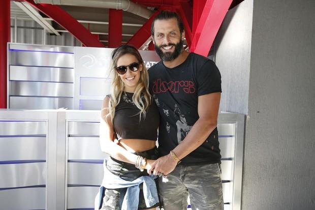 Henri Castelli e namorada, Maria Fernanda