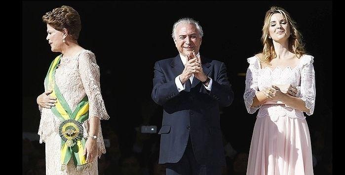 Dilma Rousseff, Michel e Marcela Temer (Crédito: Buzzfeed)