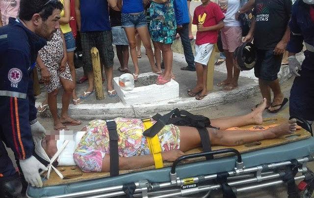 Uma das mulheres ficou bastante ferida