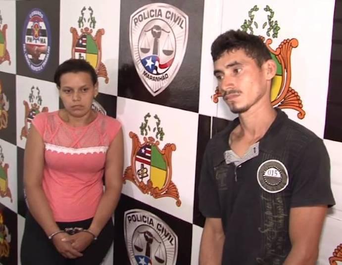 Mulher e amante foram presos (Crédito: Reprodução)