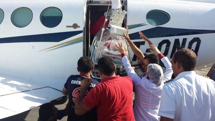 Bebê foi transferido para tratamento especializado em Goiânia