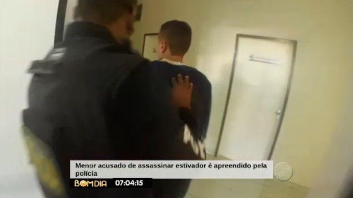 Menor apreendido por assassinato (Crédito: Reprodução/TV Meio Norte)