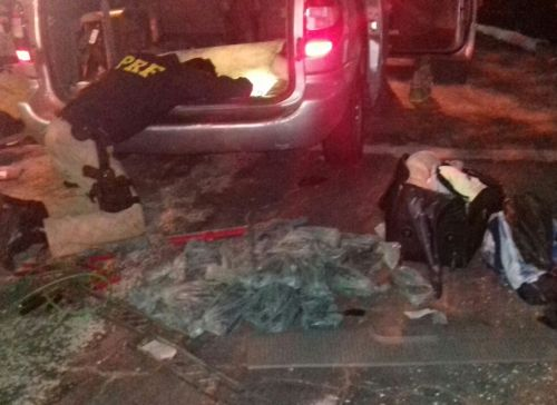Homem é preso com 100 kg de pasta base de cocaína em fundo falso  (Crédito: Reprodução)