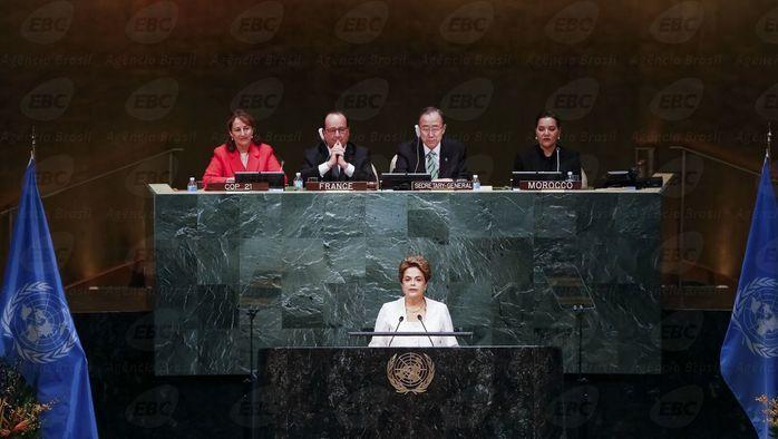 Dilma durante discurso na ONU (Crédito: Agencia Brasil )