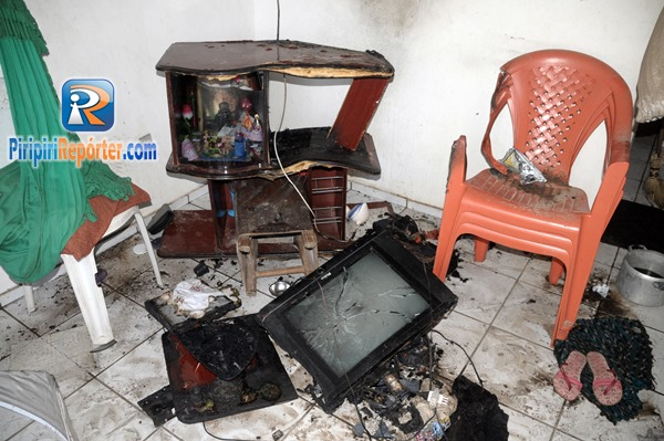 Curto-circuito provoca incêndio em casa em Piripiri (Crédito: Piripiri repórter )