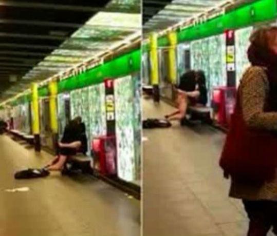 Casal faz sexo em estação de metrô de Barcelona