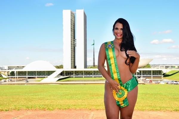 Milena Teixeira na época do Miss Bumbum (Crédito: Divulgação)