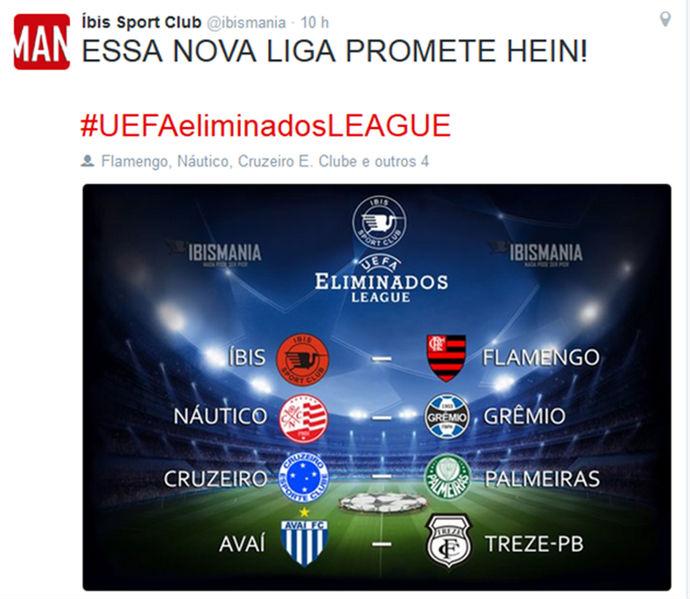 Provocação do time pernambucano viralizou (Crédito: Reprodução)