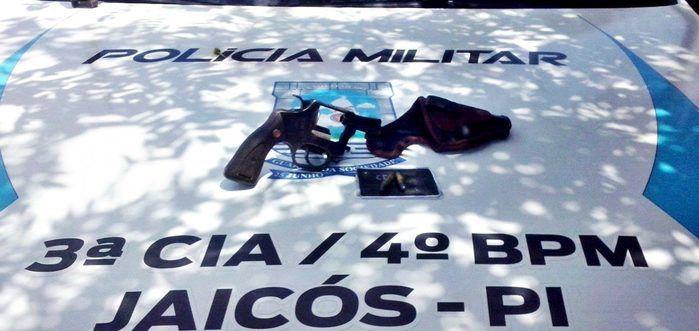 Arma apreendida com  José Dias Braz Veloso (Crédito: Divulgação/Polícia Militar)
