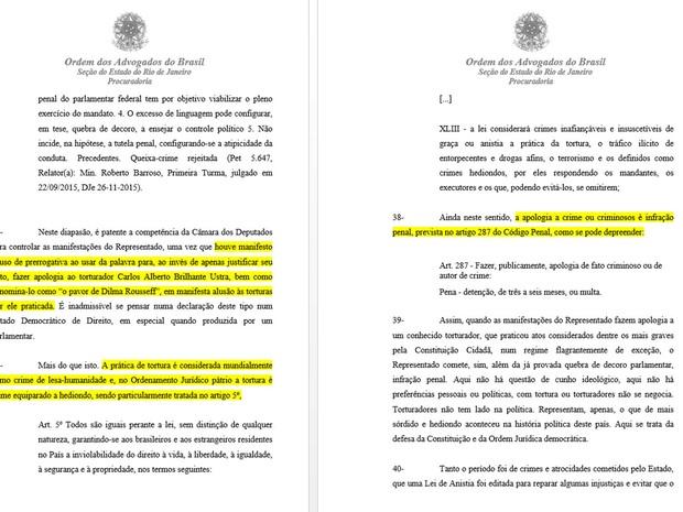 OAB acusa Bolsonaro de fazer apologia ao crime